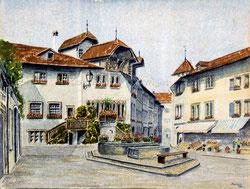 Nr.802 Murten, Haus zum Rübenloch Anno 1966