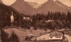 Vergleichsfoto des Ortes aus den frühen Zwanzigern