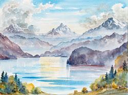 Nr. 3550 Thunersee und die Berge