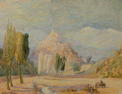 Nr.1013 Landschaft mit Fig. bei St.Paul de Vence