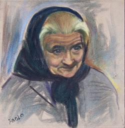 Nr. 1870 alte Frau mit Kopftuch