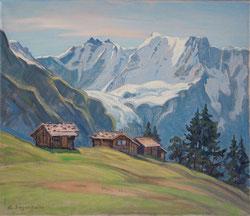 Nr.1732/RB714 Im Wintertal, Gletscherhorn und Ebnefluh