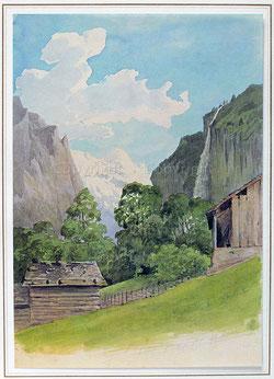 Lauterbrunnen (Staubbach) 1.8.1847