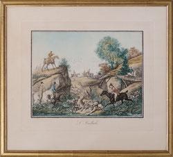 Nr. 2853 L'Hallali / Jagdszene