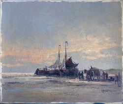 BR001;  Warenumschlag am Strand