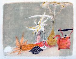 Nr.820 Herbstliches Stilleben mit Aktfigur