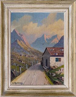 Nr.2701 Wegerhütte am Julierpass, Morgendämmerung