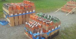 Bild:Aufbau Feuerwerk Abschußmörser