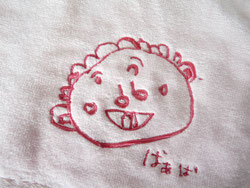似顔絵タオル