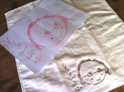 お絵描きをタオルに刺繍