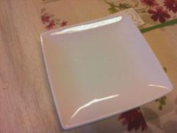 ポーセラーツ白いお皿