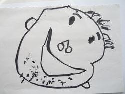 似顔絵タオル原画