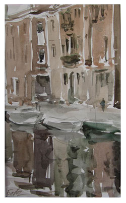 Venetian sketches - Watercolor  /   Venezianische Skizzen - Aquarell