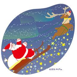 月ごと絵手紙 クリスマス