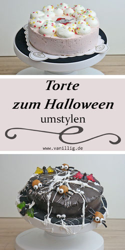 Halloween Torte mit Spinnen inkl. Video Anleitung
