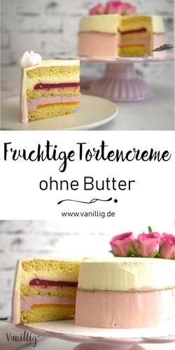 fruchtige Tortencreme ohne Butter
