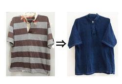 ▲綿100% ラガーシャツ シミあり