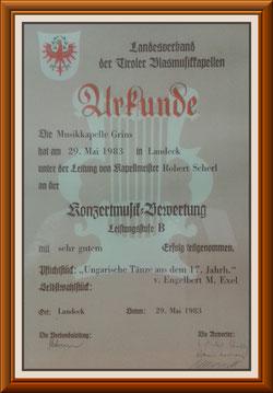 MK-Grins, Konzertmusik-Bewertung 1983