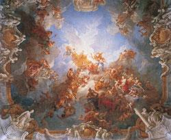 """by François Lemoine :     """"L'Apothéose d'Hercule"""", 1732-1736, Versailles, Salon d'Hercule"""