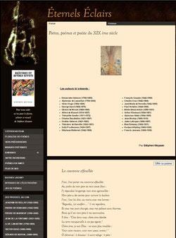 https://www.eternels-eclairs.fr/poetes-poemes-poesie-19-eme-siecle.php