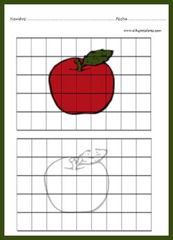dibujos en cuadrículas