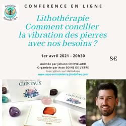 Association Soin de l'Etre - MAZAN - CONFERENCE de Jérémie Guerry - Me 23 septembre 2020 - Salle de La Boiserie MAZAN