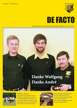 De Facto - Das Vereinsmagazin der SV Volkse-Dalldorf