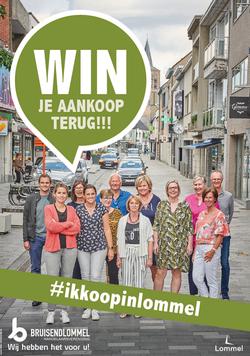 Dirk Van Bun Communicatie & Vormgeving - Grafisch ontwerp - reclame - publiciteit - Lommel - Affiche #ikkoopinlommel - Bruisend Lommel