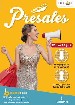 Van Bun Communicatie & Vormgeving - Grafische vormgeving - Lommel - Affiche Bruisend lommel - Pre Sales