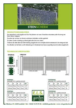 Van Bun Communicatie & Vormgeving - Grafische vormgeving - Lommel - Leaflet & Flyer ELS Garden