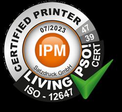 Living PSO Zertifizierung für die Satzdruck GmbH in Coesfeld