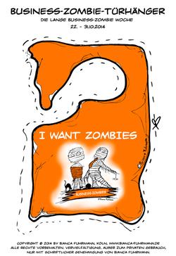 Business-Zombie-Lesezone, Türhänger,  © Bianca Fuhrmann, #BusinessZombie