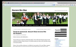 """Article sur la """"Harpe-Rock"""" d'Alicia, au festival médiéval à Dinan, Juillet 2014"""