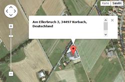 """Anfahrtsweg zur """"Reitanlage am Ellerbruch"""""""