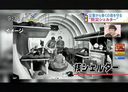 TOKYOMXテレビ12のバラいろダンディで津波シェルター放映