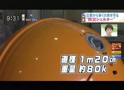 TOKYOMXテレビ13のバラいろダンディで津波シェルター放映