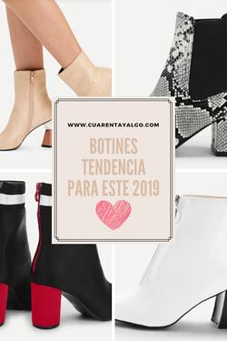 botines tendencia 2019, botines tendencia, comprar botines on line, botines a la moda