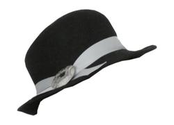 chapeau en feutre noir pour femme
