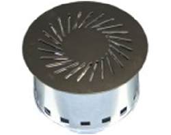 Circular diffusers for underfloor air distribution