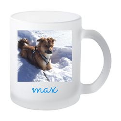 Hundehort Rudel-Treff - Tasse Glas satiniert