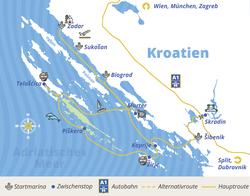 Kornaten-Package Route bei YACHT-URLAUB