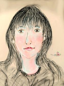 "45 - ""Souria""  Portrait  Dessin-Pastel   / Mars 2018"