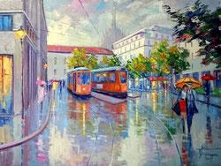 Milano dipinto di Giuseppe Faraone