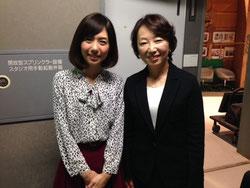 メインアナの加藤夕紀さんと