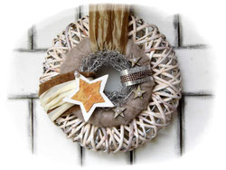 Türkranz Weihnachten türkranz weihnachten vogelhaus gartendeko