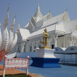 White Temple in Dan Makham Tia