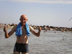 Rafraichissement dans la mer Noire.
