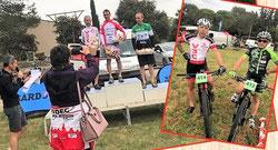 Georges sur le podium, et avec JP Pesenti d'All Bike
