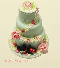 フリーレッスン・ミッキーとミニーのケーキ