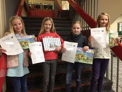 Die Gewinnerinnen: Finja, Hannah, Lia und Luisa